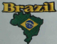 Brazil Embroidered Flag Patch, style 05.